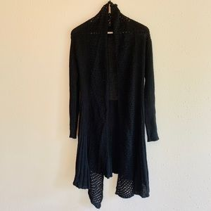 Sweaters - Knit Asymmetrical Long Cardigan/Sz:M